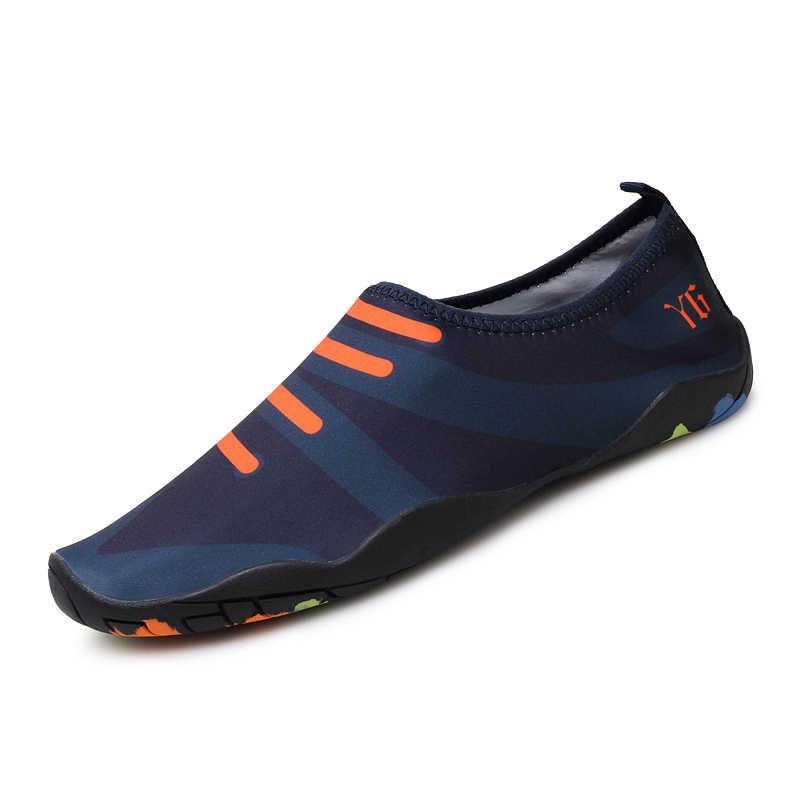 Men Swimming Shoes Outdoor Upstream Beach Shoes For Women Aqua Water Shoes Soft Rubber Sole Skin Shoes Size 35-46