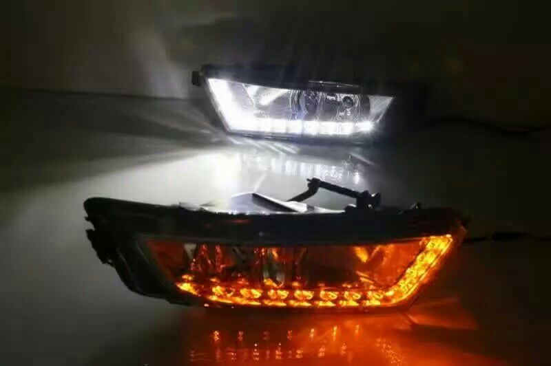 Octavia day light;2015 2016 2017year,Chrome,Free ship!LED,Octavia fog lam;Superb;yeti,fabia,Rapid,Octavia,CX-3 rear light octavia