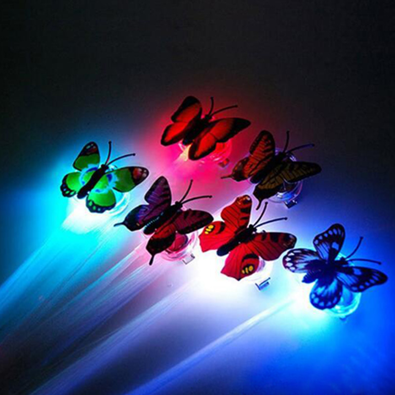 Gafas Led for party 100pcs/lot Led Luminous Flower led Hair Clip Light Up Butterfly Bar Party Decoration party Supplies Toy-in Glow Party Supplies from Home & Garden    3