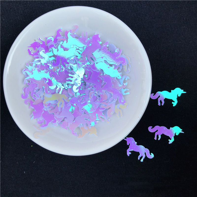 15g Mini Unicorn Sequins Corn Filler Clear Slime Toys Accessories Supply For Kids Corn Doll Figure Model Lizun Toys Decor Gifts