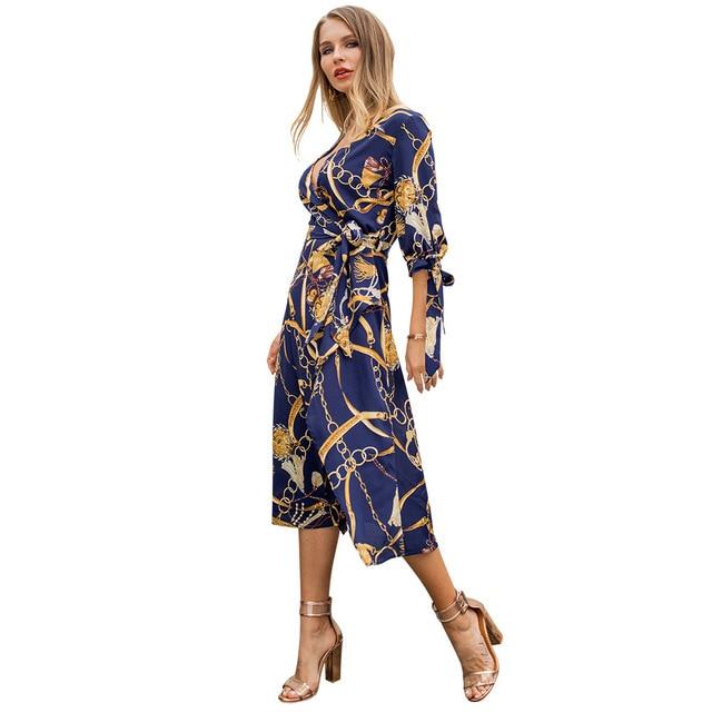 Robe Femme 2019 Vestidos Mujer Womens Casual Wear Boho Style Long Dress Women hi low dress Vestidos De Mujer Tallas Grandes