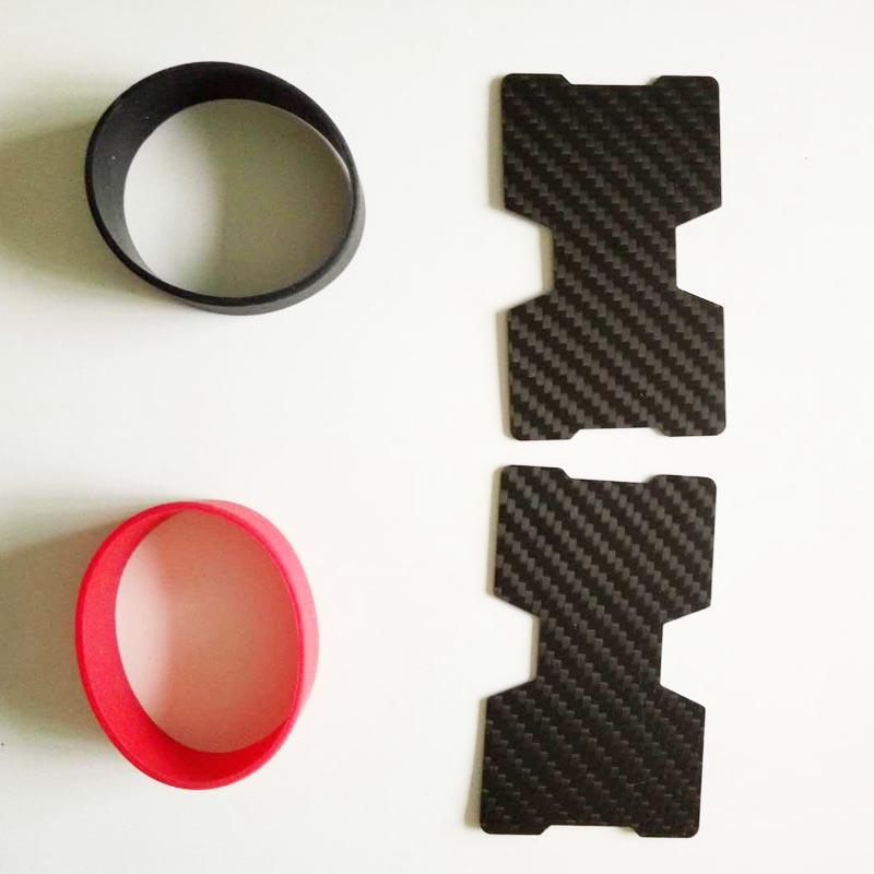 compact fibra de carbono mini dinheiro clipe