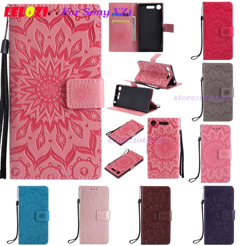 LELOZI TPU PU Leather Lather Lady Girls Flip Wallet Vintage Best Case Caso Bag For Sony  ...