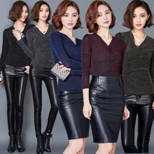 2017 Fashion Woman bodycon Slim Blouse Long Sleeve V-neck Body Sexy Tops Ladies Shirt Bright Spot Mesh Blusas De Renda