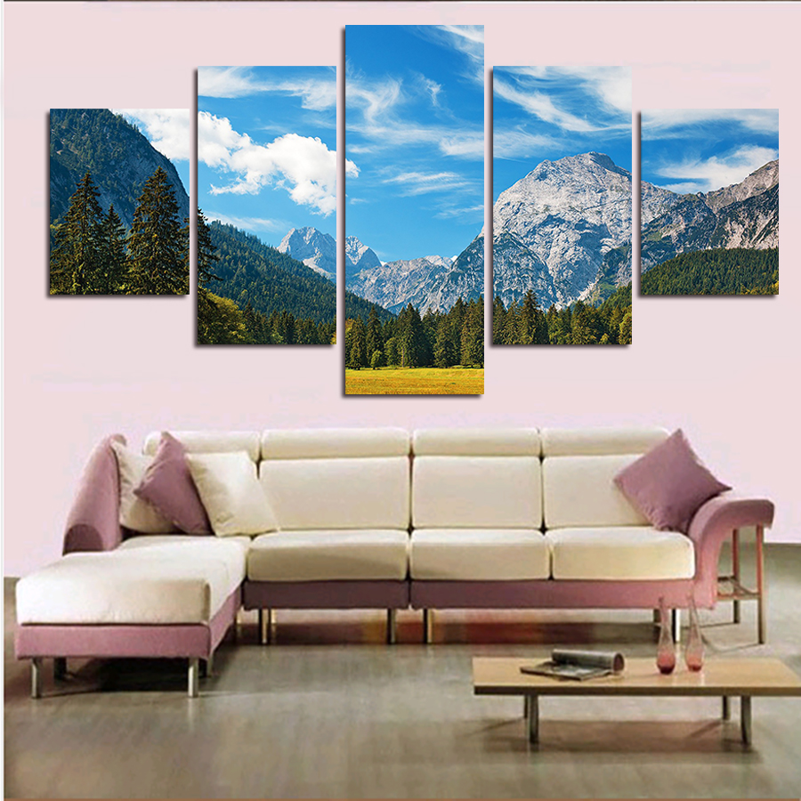 new hot print oil paintings beautiful scenery picture. Black Bedroom Furniture Sets. Home Design Ideas