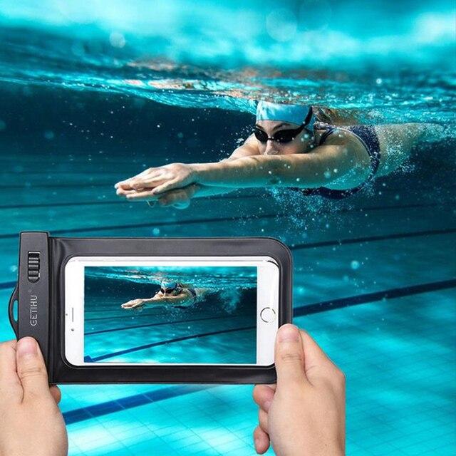 For iPhone 7 6 6s plus 5 5c 5s 4s Samsung galaxy S7 S6 S5 S4 edge plus Sealed Waterproof Underwater Mobile Phone Bag Pouch Case