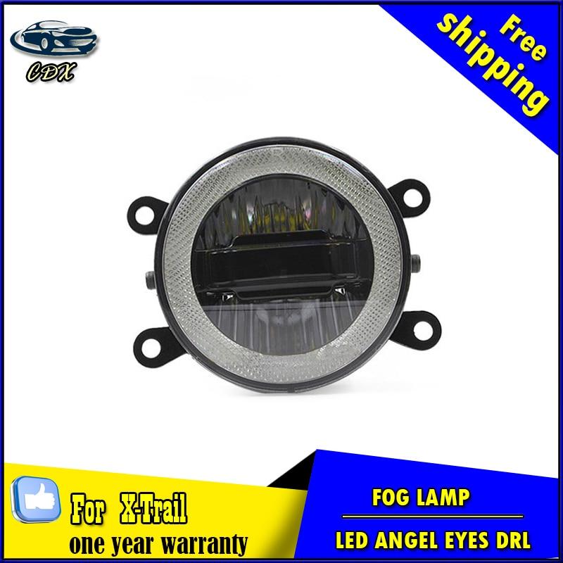 Car Styling Daytime Running Light for Nissan X-Trail LED Fog Light Auto Angel Eye Fog Lamp LED DRL High&Low Beam Fast Shipping