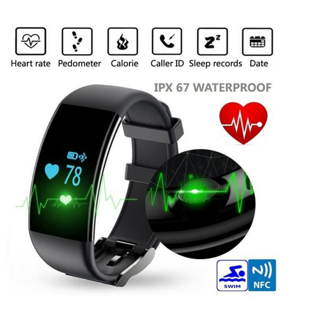 Teamyo D21 Smat Band Heart Rate Monitor Smart Bracelet Waterproof Fitness Tracker Watch Clock Smartband for IOS Android Phone