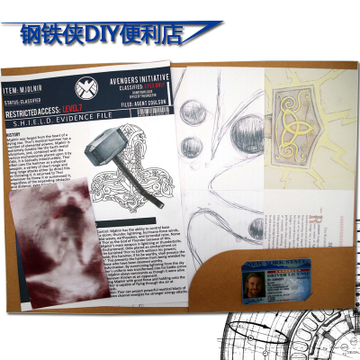 Marvel Toys The Avengers Figure Raytheon Tor's Shield File Marvel Around Film Derivatives