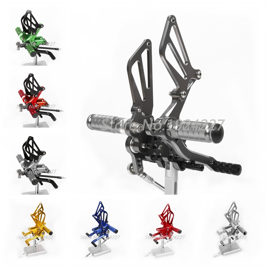 CNC Rearset Foot Pegs For Suzuki GSXR750 1996-2005 GSXR 750 Footpeg Rear Brake Shift Set 1997 1998 1999 2000 2001 2002 2003 2004 цена