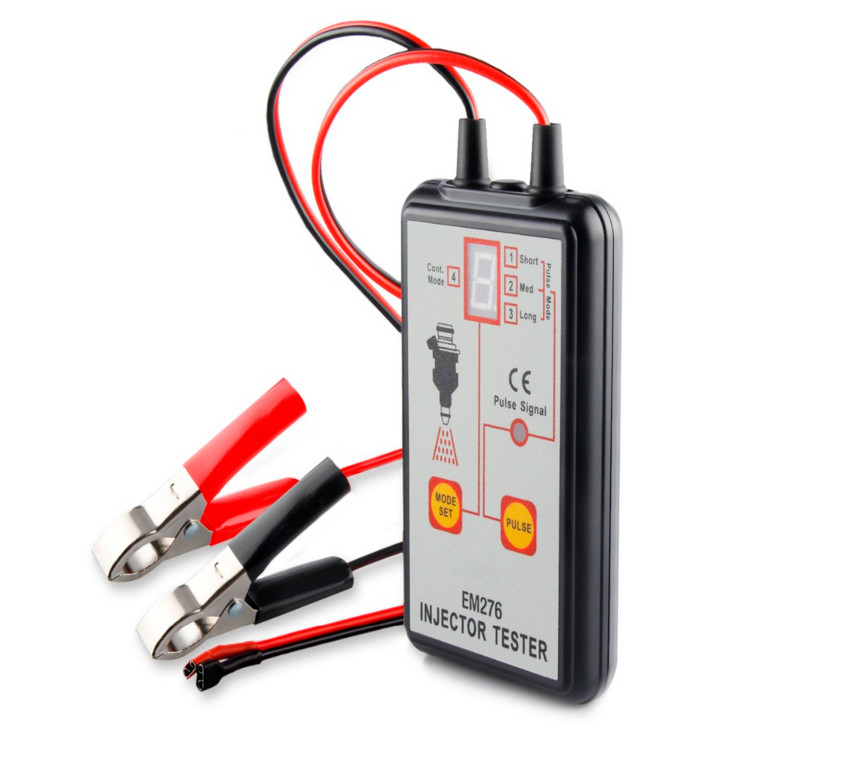 Fuel Injector Tester Automotive Fuel Pump System Analyzer 4 Pulse Modes EM276 Injector Pressure Gauge genuine oem fuel injector pressure sensor denso 6270 499000 6270