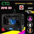 Новый 3D-принтер CTC  двойной экструдер + двухцветной 3D-принтер с двумя насадками/Бесплатная доставка Abs или ложек Pla  2019