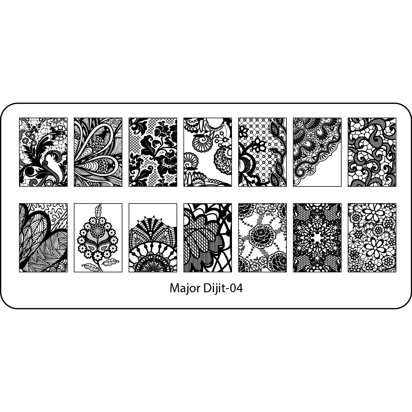New Nail Art Stamping Plates Manicure Stencil Lace Dandelion Flower ...