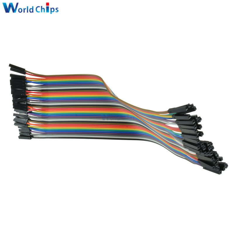 40PCS Dupont Wire Color Connector Cable 2.54mm 1P 1P For Arduino-in ...