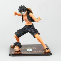 Anime Een Stuk Film Goud Ver. aap D Luffy Zwart Battle Suit PVC Action Figure Figuras Anime Collectible Kids Speelgoed 12 cm