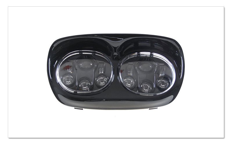 5.75 inch LED Motorcycle Headlight 5-34 Daymaker Projector Dual LED Headlight for Harley Davidson Road Glide 2004-2013 (1)