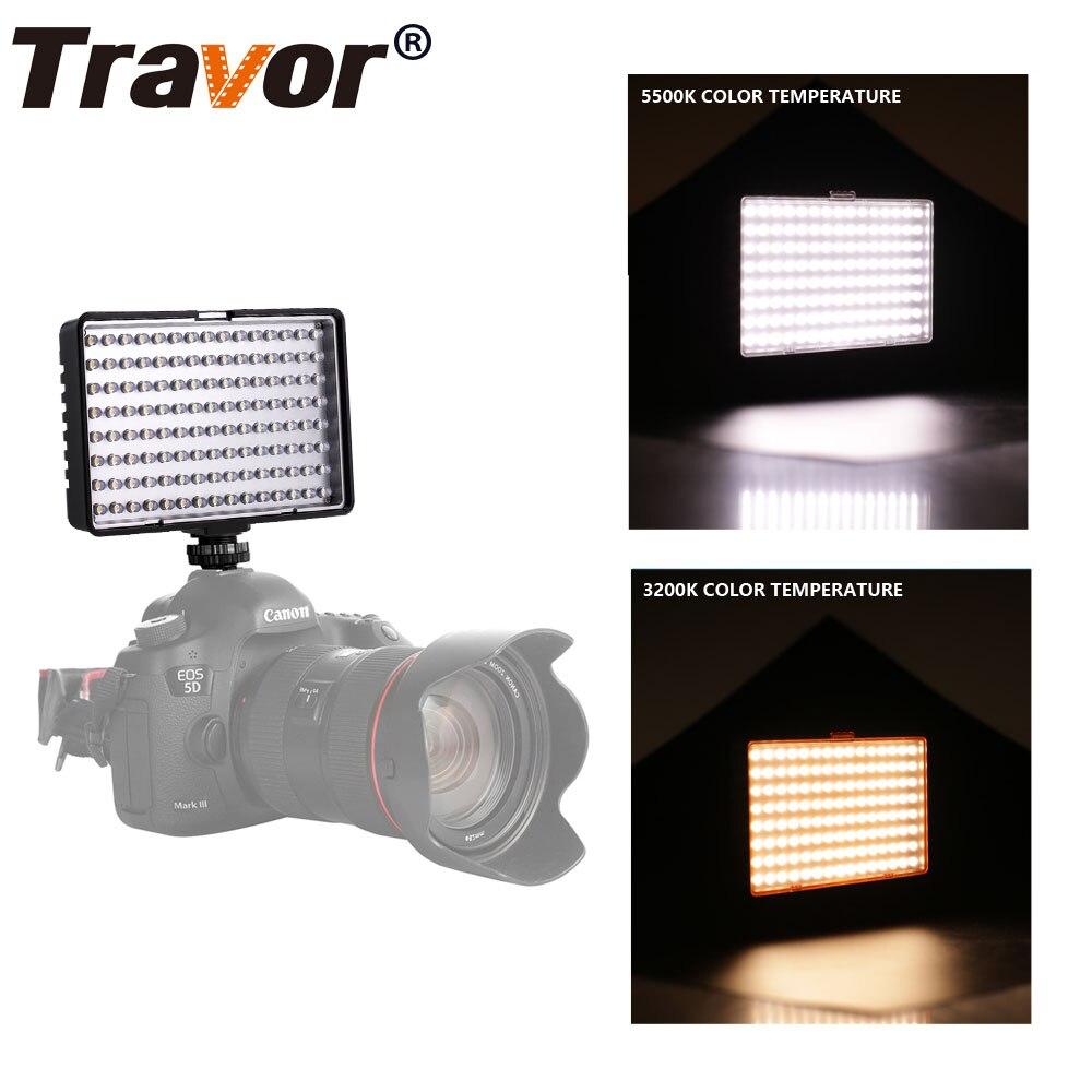 Travor 120pcs Led Video Light cu 2 filtre reglabile Temperatura de - Camera și fotografia