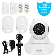 MYGUARD GSM Wireless Home Security Alarm System PIR Sensor door contact remote control all camera surveillance home system Kits