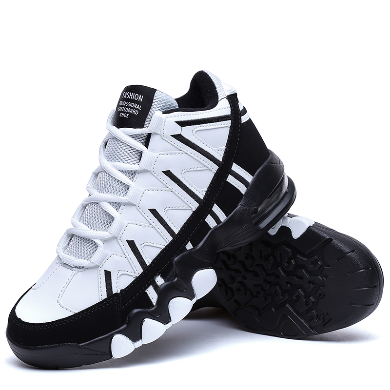 ФОТО Mens Outdoor Sport 2017 Basketball Shoes Waterproof Males Athletic Shoes Wholesale High Top Sneakers Air Basket Homme Basquete