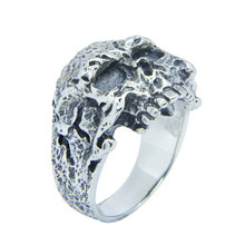 Free Shipping Size 7-15 Men Boys 925 Sterling Silver Ghost Skull Ring Jewelry Newest S925 Fashion Biker Skull Ring linsion handmade 925 sterling silver mens biker rock punk blue cz eyes skull ring ta61 us size 7 15
