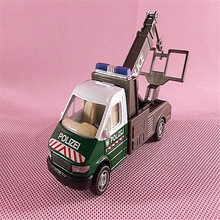 2pcs/lot Architecture Model Metal Police Car For 1/64 Building Kits Toy