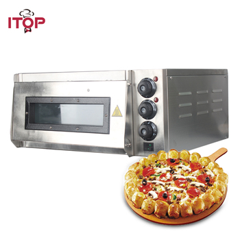 ITOP 220V Electric Pizza Oven Cake roasted chicken Pizza Cooker Commercial use Kitchen Baking Machine commercial baking bakery machine widely use industrial electric conveyor belt type pizza oven
