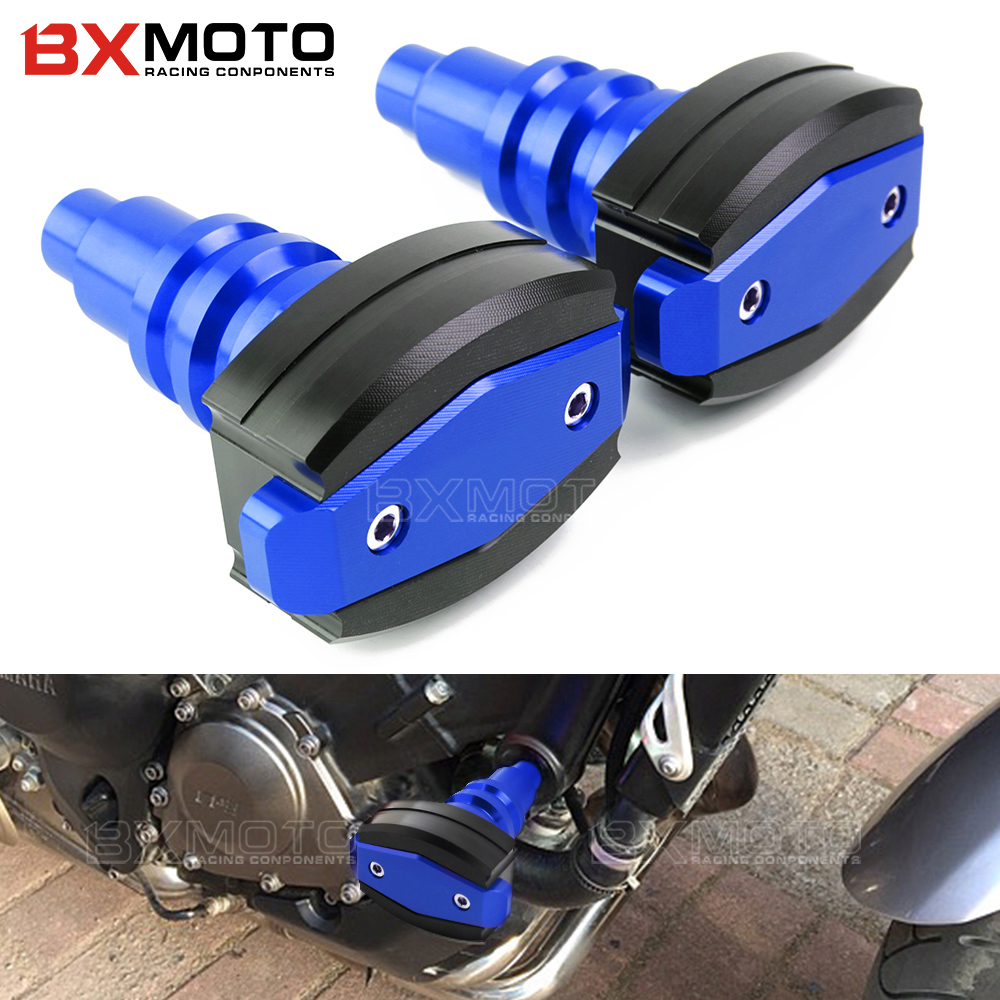 blue Falling protection CNC motorcycles Frame Sliders Anti Crash Pad Cover Protector Guard For Yamaha MT07 MT-07 MT 07 2015-2018 new parts for yamaha mt07 mt 07 2013 2014 2015 aluminum motorcycle cnc crash pads frame slider protector falling protection