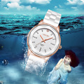 Fashion Luxury Women Real Ceramic Watch Diamond Crystal Waterproof Ladies Female Girls Dress Business Wristwatch Watches OP001