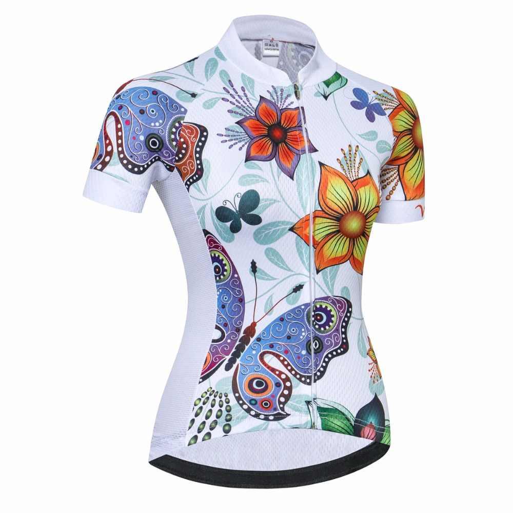 Ropa ciclismo ciclismo jérsei feminino bicicleta 2018 estrada mtb bicicleta de manga curta ao ar livre roupas maillot corrida superior equipe