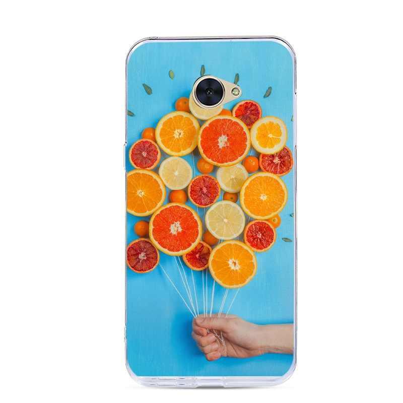 Окрашенный чехол для Huawei Y7 5,5 дюймов Мягкий силиконовый чехол задняя крышка телефона для Huawei Y7/Nova Lite + Чехлы узорчатые чехлы с рисунком
