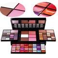 Maquiagem profissional 74 Full Color Eyeshadow Shimmer Eyeshadow Blush Lip Gloss Palette Marca de Cosméticos Make Up Set Kit