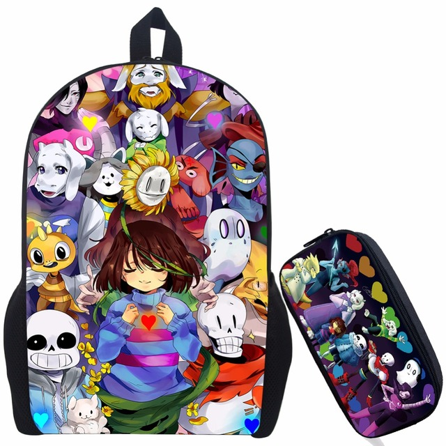 b90a754e77 17 InchAwsome Undertale Printing Backpack Mochila Boys Girls School Bags  Children Bookbag Shoulder Backpacks Gift Bag
