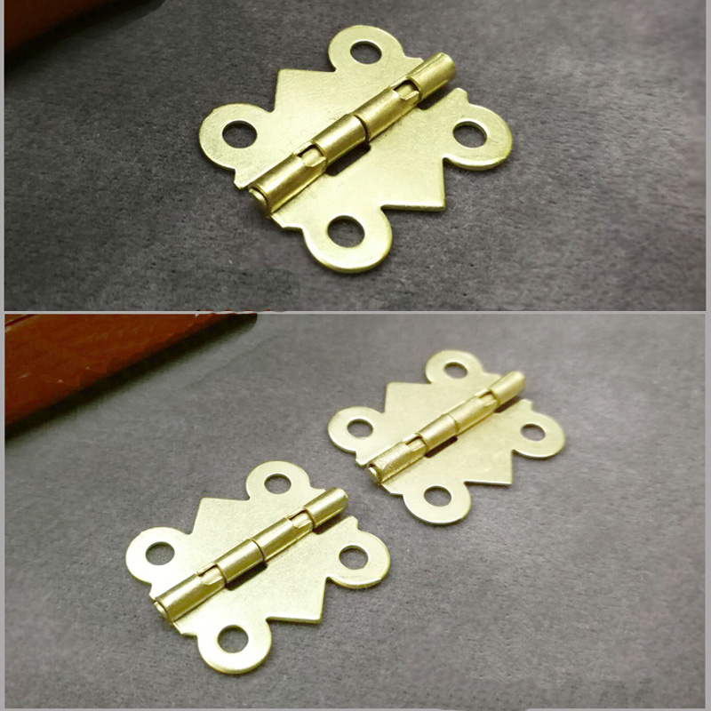 20Pcs Antique Bronze Hinge Mini Butterfly Door Hinges Cabinet Drawer Jewellery Box Decorate Hinge Furniture Hardware With Screws