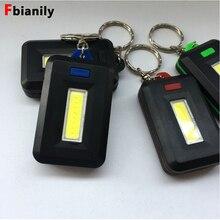 جديد سلسلة مفاتيح بكشاف LED صغير محمول كيرينغ ضوء الشعلة مفتاح سلسلة 45LM 3 طرق تخييم طوارئ مصباح على ظهره ضوء