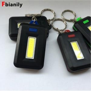 Image 1 - Llavero con linterna LED Mini, Portable, linterna de luz, 45LM, 3 modos de emergencia, lámpara de Camping, mochila