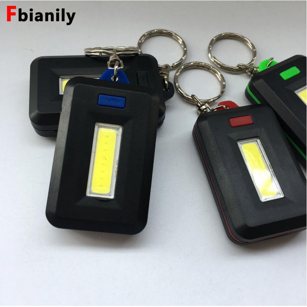 NEW Mini LED Flashlight Keychain Portable Keyring Light Torch Key Chain 45LM 3 Modes Emergency Camping Lamp Backpack Light