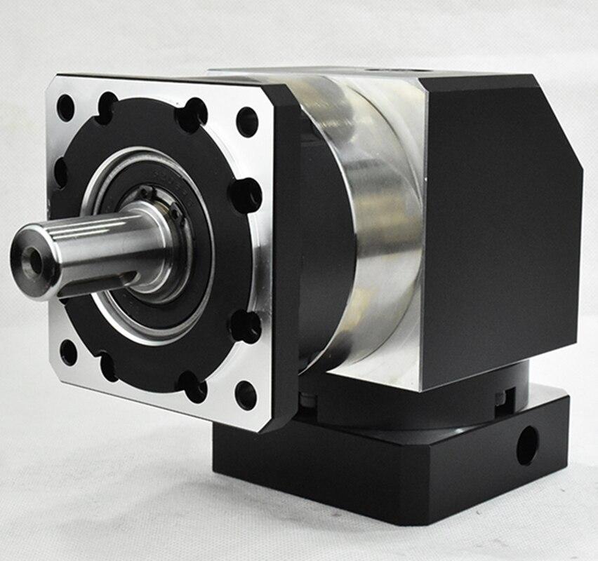 Réducteur planétaire à angle droit de boîte de vitesse de 90 degrés 7 arcmin 1 rapport d'étape 3:1 à 10:1 pour l'arbre d'entrée de moteur pas à pas nema34 14mm