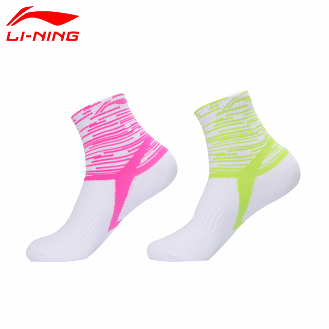Li-Ning Breathable Sports Socks Men and Women 4 Season Sock for Running Cycling Badminton Tennis Yoga Anti Slip