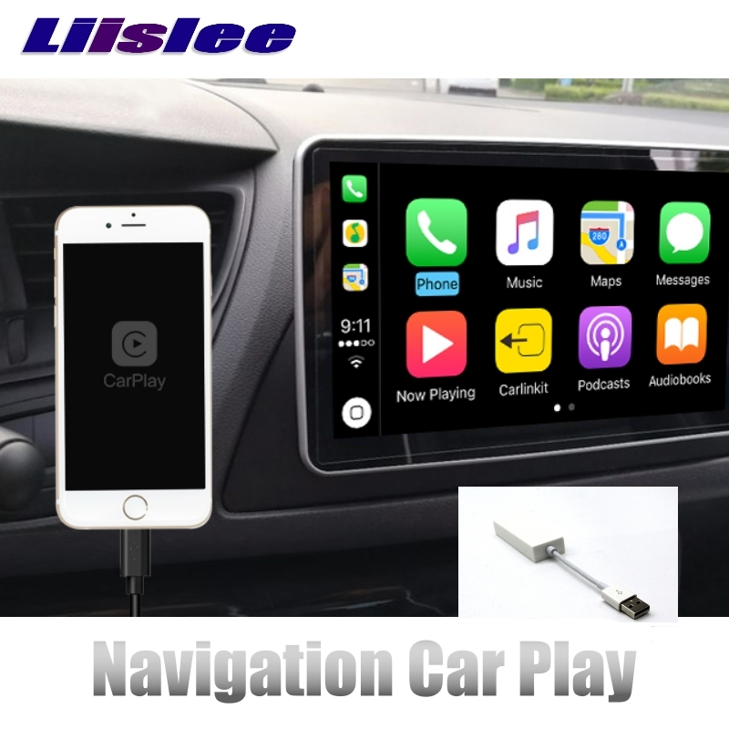 LiisLee CarPlay Adapter For Android NAVI GPS USB Link To Screen Double Control for Driver Multimedia Smart Phone Car Player carplay mirror link mib carplay usb aux in socket harness for tiguan l mk2 5q0 035 726 e