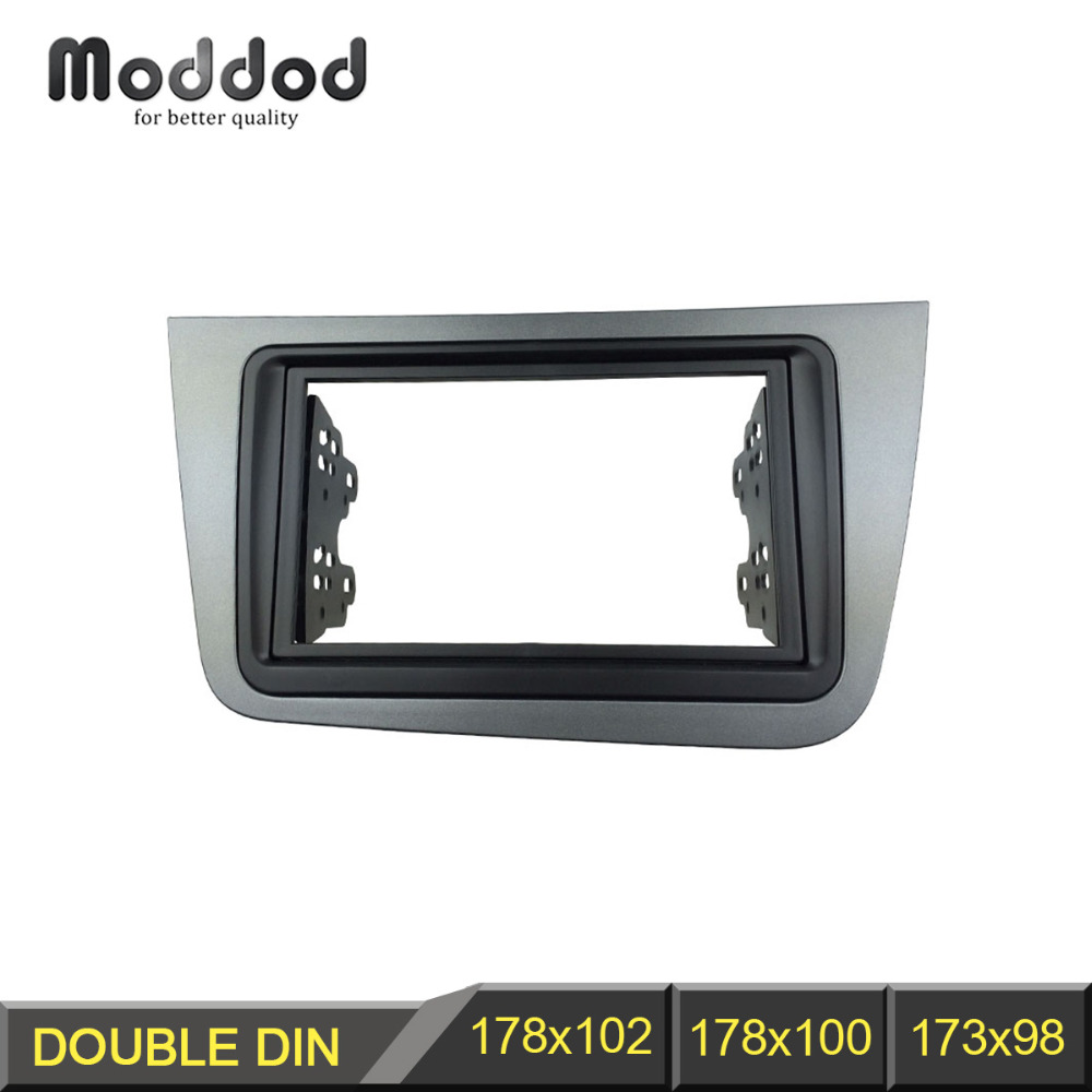 Double Din Radio Fascia pour SEAT Altea Stéréo Dash Panel Installation Mont Version Kit Visage Plaque Lunette Facia LHD