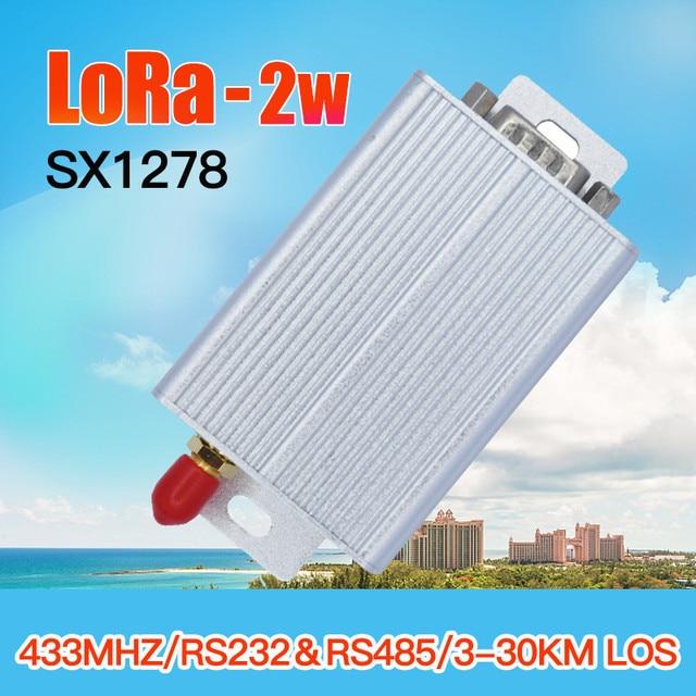 433mhz 2w lora wireless long range radio modem 450mhz uhf sender empfänger ttl rs485 rs232 lora rf transceiver modul