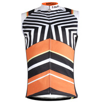 Stripes Pattern Bicycle Clothing Men Summer Sleeveless Quick Dry Cycling Jersey Size S To 6XL