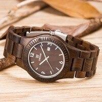 Kwarcowy męskie markowe zegarki prawdziwego drewna zegarki na rękę luksusowa marka z drewna pasek analogowe mężczyźni sukienka zegarek z japońskiego ruchu w Zegarki kwarcowe od Zegarki na