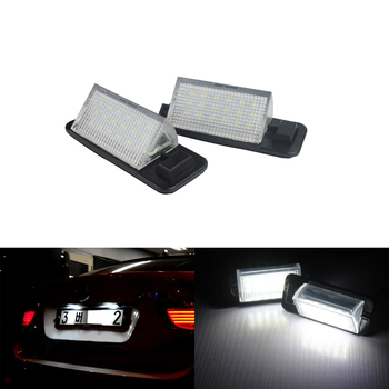 ANGRONG No Error LED Licence Number Plate Light For BMW E36 Coupe Saloon Convertible Estate image
