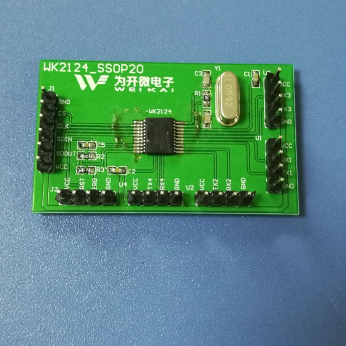 WK2124 Serial Expansion Development Board SPI Expand 4 Serial Ports DEMO