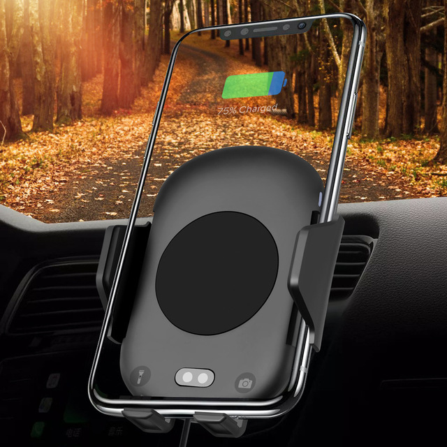 10W Qi Wireless Car Charger Automatic Infrared Sensor Fast Charging Air Vent Phone Holder for iPhone 8 X XS XR Samsung S8 S9 S7