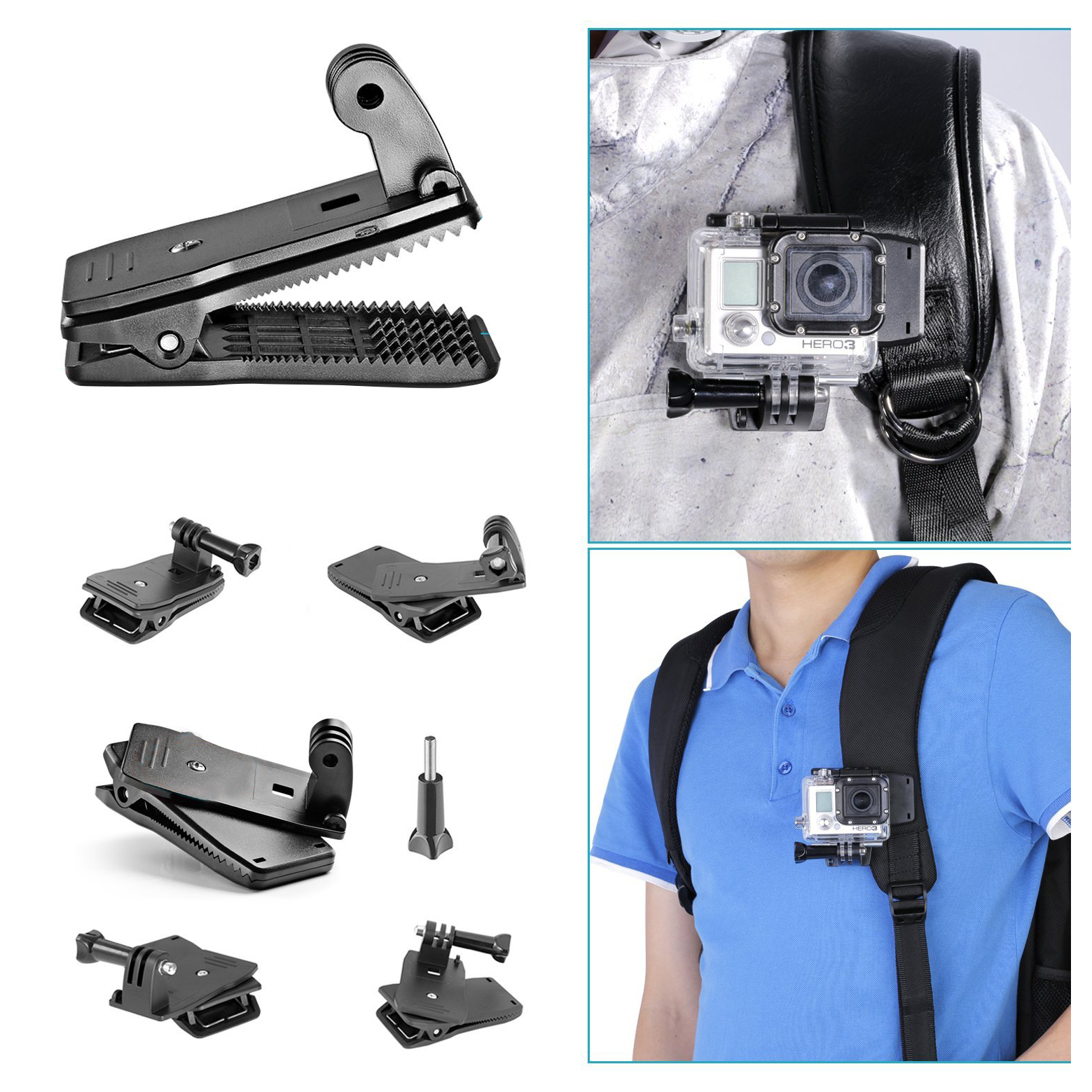 6-in-1/5-in-1 game External sports indispensable accessories for Gopro HD Hero4 Hero 1 2 3 3+ 4, SJ4000, and Sports Cameras
