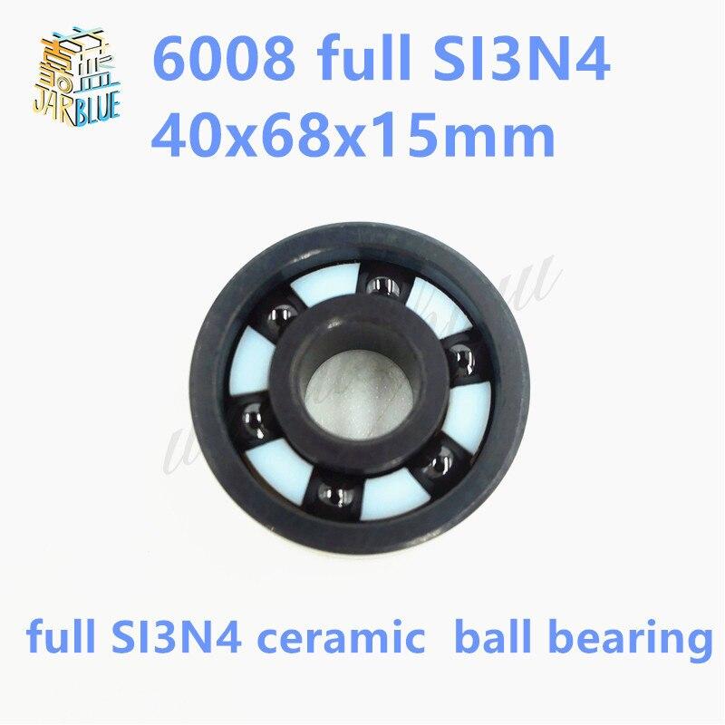 Free shipping 6008 full SI3N4 ceramic deep groove ball bearing 40x68x15mmFree shipping 6008 full SI3N4 ceramic deep groove ball bearing 40x68x15mm