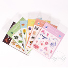 2 Sheets/pack Flower Dream Park Adhesive Stickers Decorative Album Diary Stick Label Decor Stationery Sticker