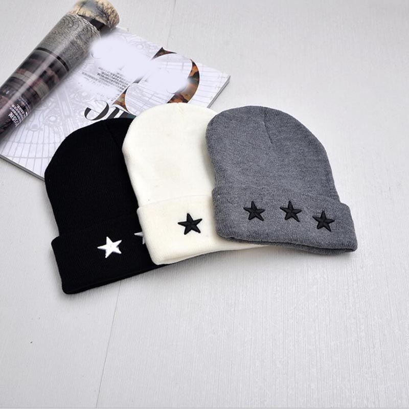 Embroidery Five-pointed Star Russia Bonnet Hat for Women Men Knitted Hats Female Bone Spring Winter Caps Beanies Girl Caps fine three dimensional five star embroidery hat for women girls men boys knitted hats female autumn winter beanies skullies caps